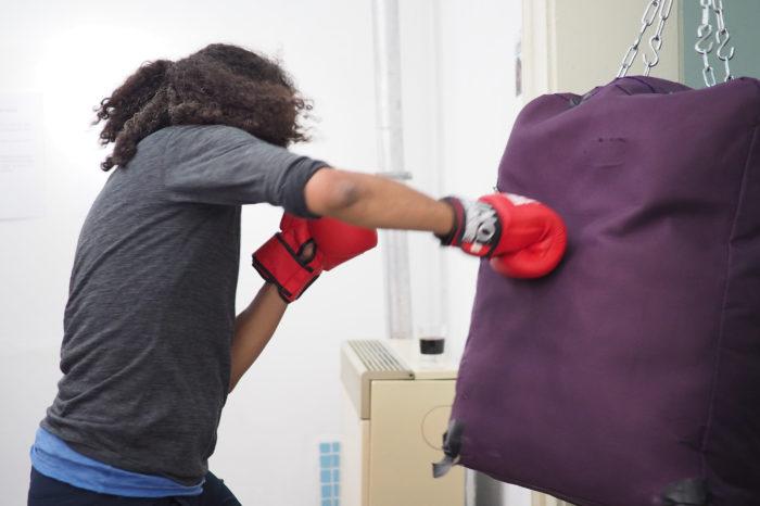Suitcase punching bag